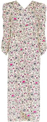 Isabel Marant Albi graphic floral print dress