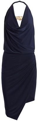 HANEY Sleeveless Cowlneck Wrap Dress