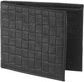 French Connection Mens Weave Emboss Wallet Black