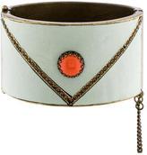 Isabel Marant Leather & Crystal Bangle