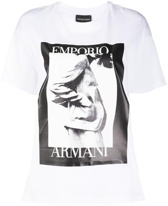 Emporio Armani logo photograph print T-shirt