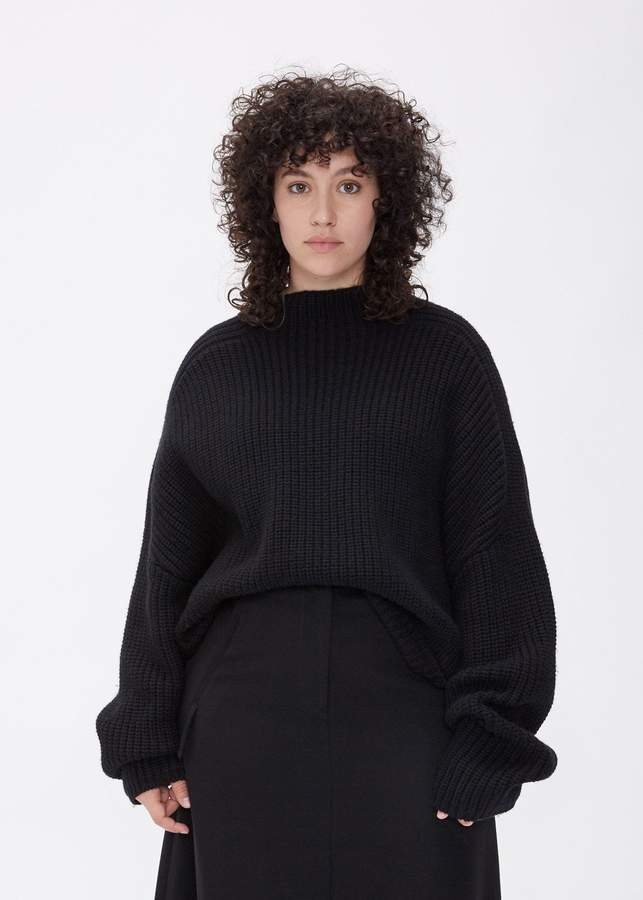 7cfd9c6560fcae Black Mock Sweater - ShopStyle