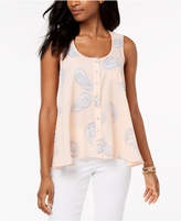 Style&Co. Style & Co Printed Button-Front Blouse, Created for Macy's