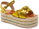 Jeffrey Campbell Xose Metallic Espadrille Platform Sandal