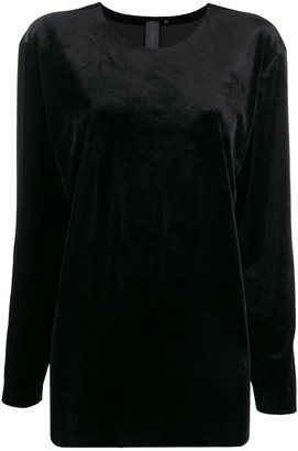 Norma Kamali oversized long-sleeve top