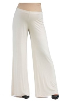 24Seven Comfort Apparel Women's Comfortable Solid Color Maternity Palazzo Pants