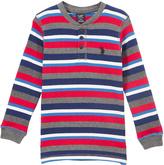 U.S. Polo Assn. Engine Red & Gray Stripe Logo Henley - Boys