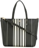 Tory Burch striped tote - women - Vinyl - One Size