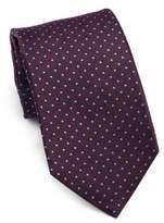 Isaia Embroidered Silk Tie