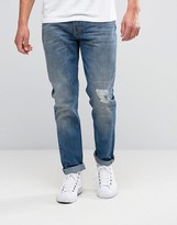 Lee Arvin Tapered Jeans Blue Blast Distressed