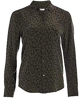 Rails Women's Kate Silk Cheetah Print Blouse