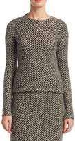 Slub Tweed Herringbone Sweater