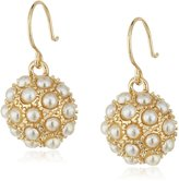 lonna & lilly Tone and Pearl Drop Earrings