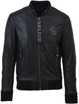 Philipp Plein Black Leather Jacket
