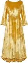 ADAM by Adam Lippes Metallic Silk-velvet Maxi Dress
