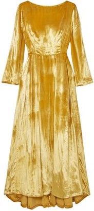 ADAM by Adam Lippes Metallic Silk-velvet Maxi Dress