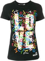 Love Moschino abstract logo T-shirt