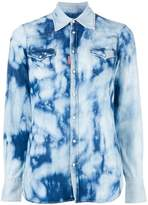 DSQUARED2 bleached denim shirt