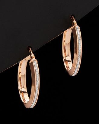 14K Italian Rose Gold Hoop Earrings