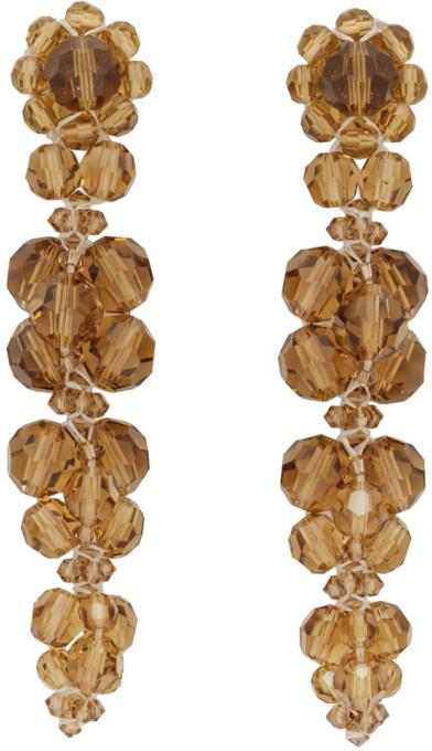 Simone Rocha Orange Cluster Drip Earrings