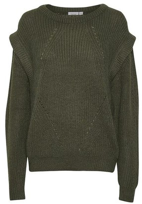 Saint Tropez Abena Sweater Green - M