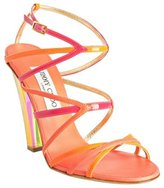 hot pink strappy leather 'Poppy' sandals