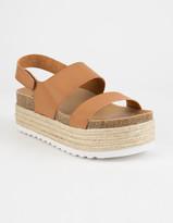 Chinese Laundry Peyton Espadrille Cognac Womens Velcro Platform Sandals