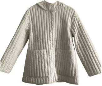 Cos White Cotton Coat for Women
