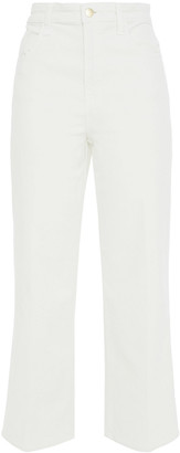 J Brand Cropped Cotton-blend Corduroy Straight-leg Pants
