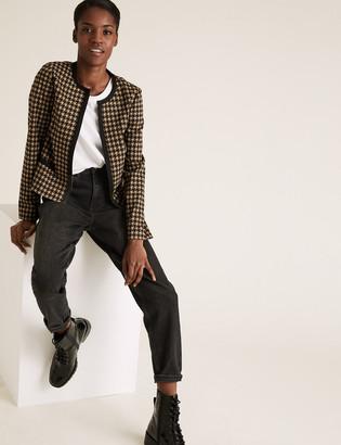 Marks and Spencer Jersey Slim Dogtooth Jacket
