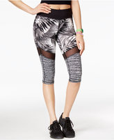Material Girl Active Juniors' Mesh-Inset Cropped Leggings, Only at Macy's