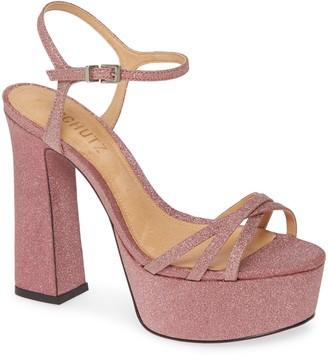 Schutz Landrie Glitter Platform Sandal