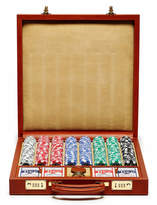 Ghurka Chestnut Leather Poker Set