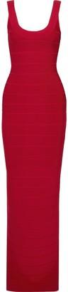 Herve Leger Split-back Bandage Gown