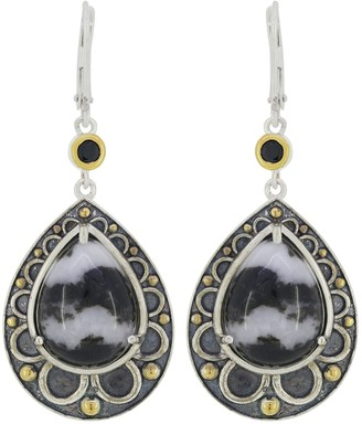 Generation Gems Cabochon Gemstone Earrings, Sterling Silver