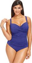 LaBlanca La Blanca Plus Size Ruched One-Piece Swimsuit