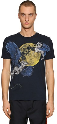 Etro HAND PAINTED COTTON JERSEY T-SHIRT