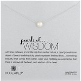"Dogeared Pearls of . . . Wisdom"" Sterling Silver 8mm Freshwater Pearl Necklace, 18"""