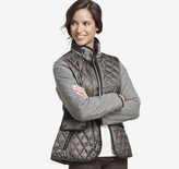 Johnston & Murphy Mixed-Media Quilted Jacket