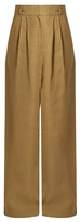 Tibi Wide-leg linen trousers
