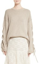 See by Chloe Women's Lace-Up Sleeve Pullover