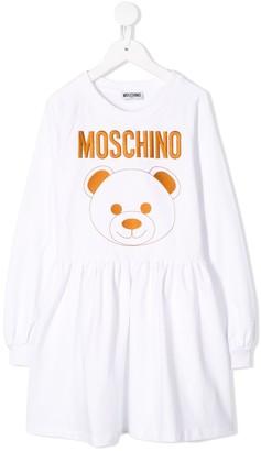 MOSCHINO BAMBINO Teddy bear print day dress
