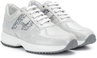 Hogan Interactive glitter sneakers