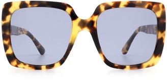 Gucci Gg0418s Havana Sunglasses