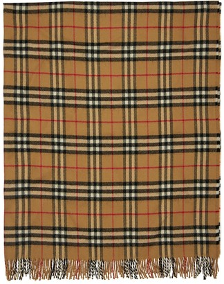 Burberry Check Merino Wool Blanket