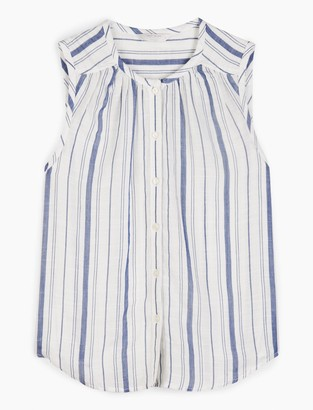 Lucky Brand Sleeveless Striped Julia Shirt