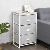 Plains 3-Drawer Nightstand Ebern Designs Color: Gray