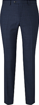 John Lewis Prince Of Wales Check Tailored Wool Trousers, Navy