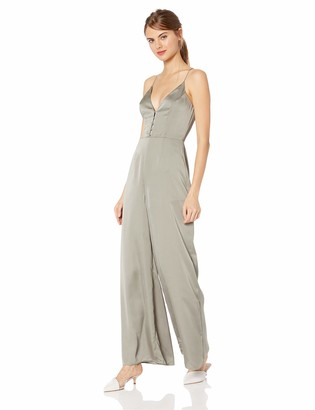 Finders Keepers findersKEEPERS Women's Spectral Sleeveless Wide Leg Plunging Jumpsuit