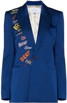 Mira Mikati Beep embroidered blazer